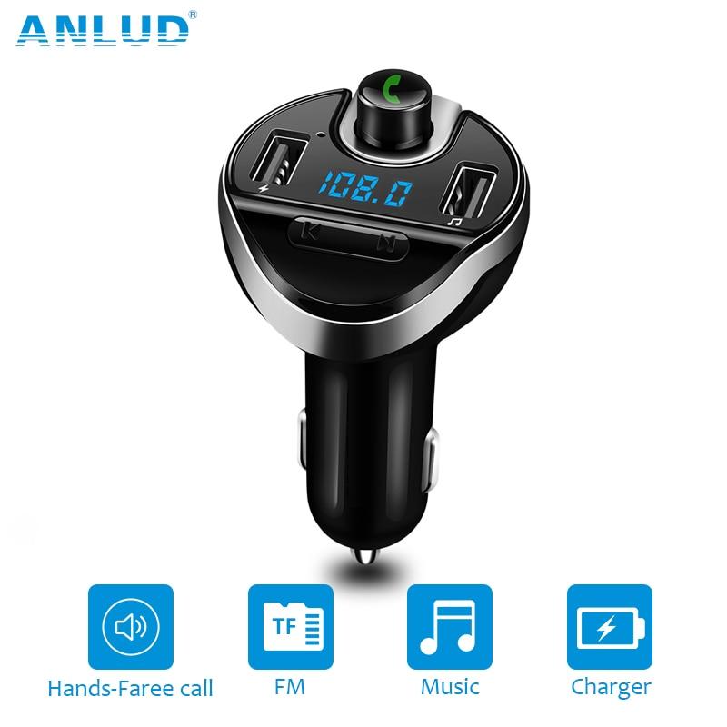 Bluetooth-carkit Handsfree FM-zender MP3-muziekspeler Dual USB-autolader Ondersteuning Micro SD TF-kaart Auto MP3-speler A2DP