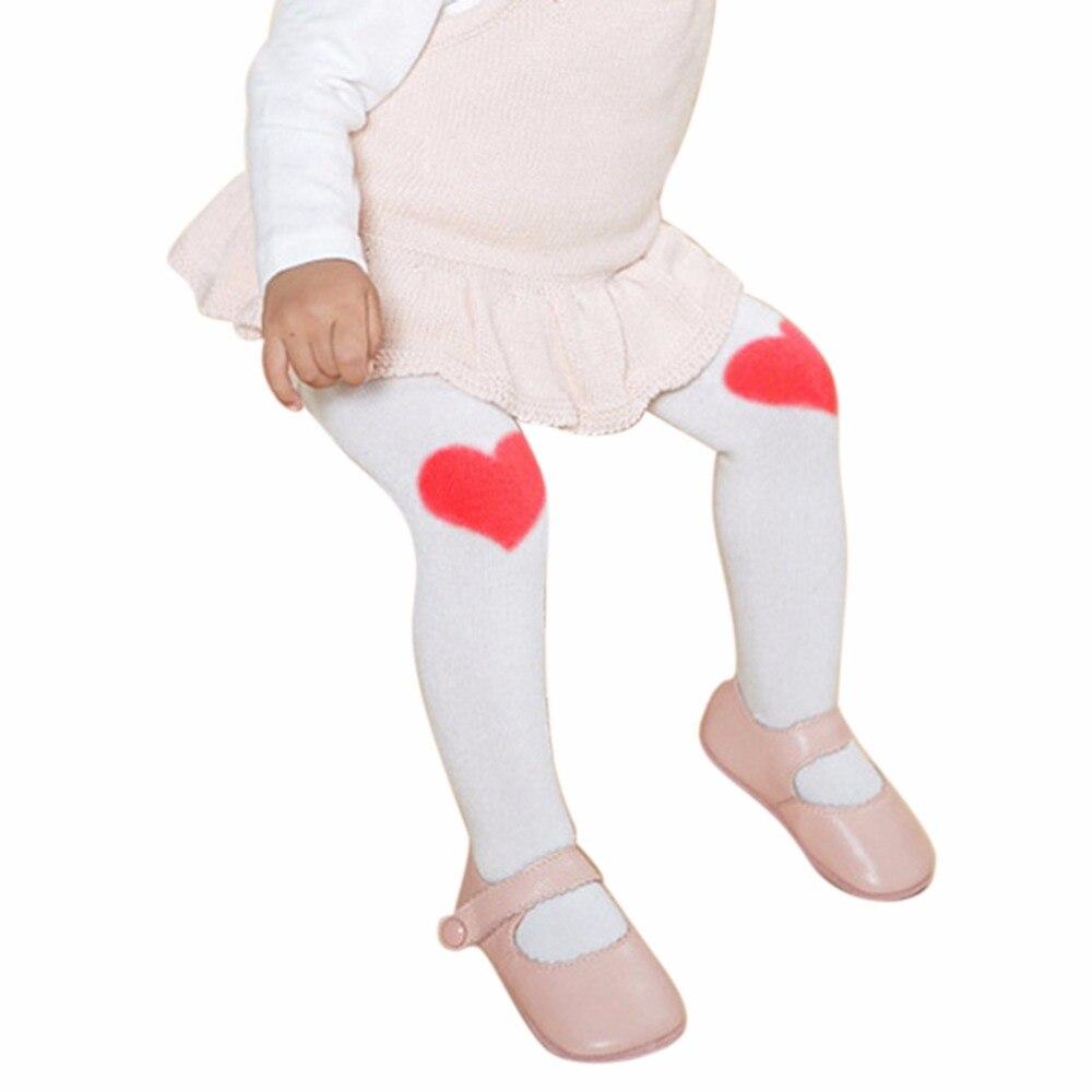 Sanft Baby Mädchen Baumwolle Knie Liebe Strumpfhosen Mädchen Hose Neue