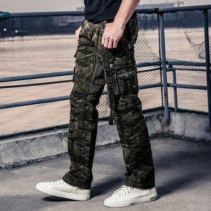 Image 4 - Cam Phối Hàng Quần Áo Làm Quần Áo Đa Năng Bỏ Túi Quân Nhiệt Pantalon Nam Quân Sự Ngụy Trang Quần Áo Mới Quần Cotton 164