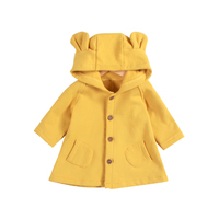 2018 Spring Baby Girls Coat New Cute Rabbit Ears Hooded Kids Jacket For Girls Thicken Warm