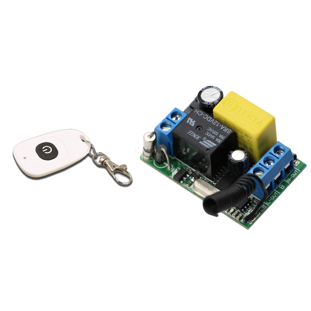 AC 220V 1CH Relay RF Wireless Remote Control Switch System Remote Control Receiver Transmitter For Lamps Electric Doors Windows