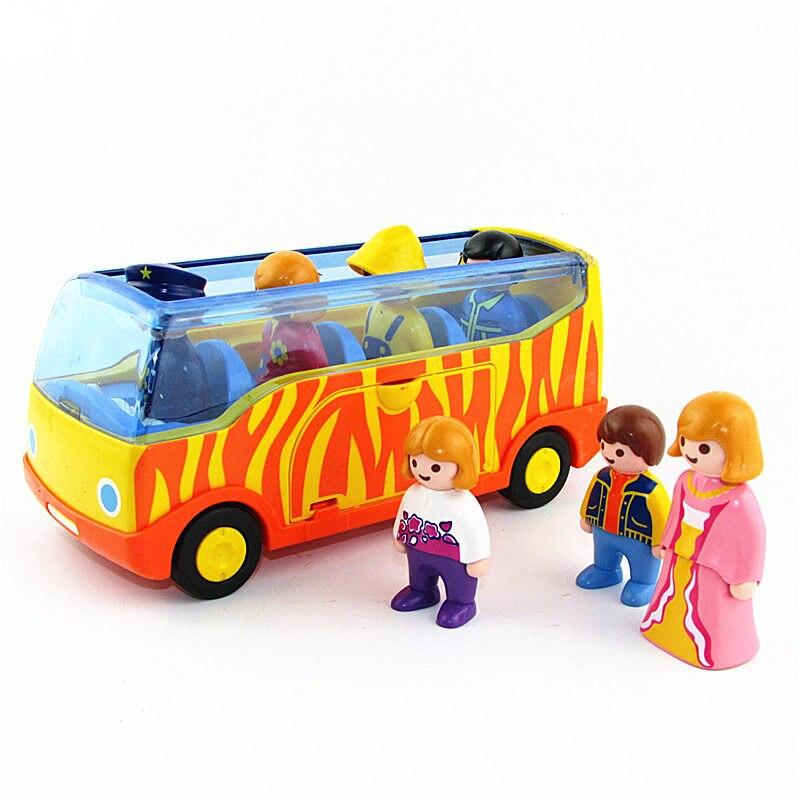Hot Toy Playmobil Set German Kid Bus Action Figures Building Blocks Vinyl Dolls Sets Christmas Gift Toys for Children Figuras