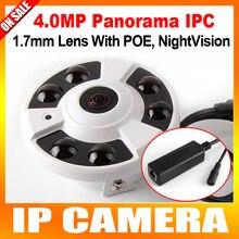 Панорама Ip-камера ИК POE 4MP 2592*1520 С 360 Градусов полный Вид Рыбий Глаз Камеры Поддержка Onvif И P2P Облако, Крытый использовать