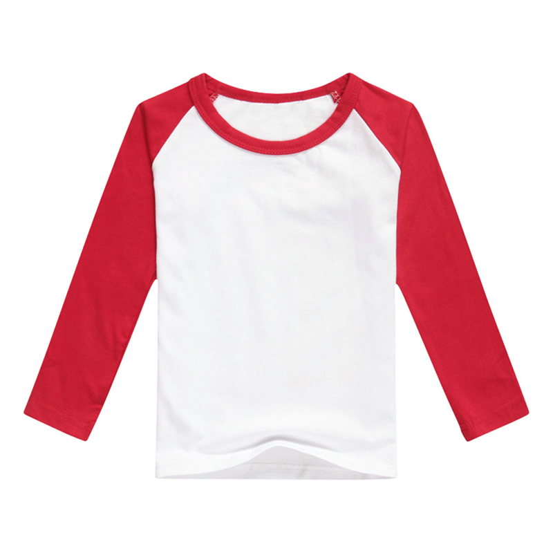Toddler Kids Basic Shirt Plain Hit Color Long Sleeve Pullover Tee Tops T-shirts Casual Shirt Tops Cute Kids Boy and Girl Clothes(China)