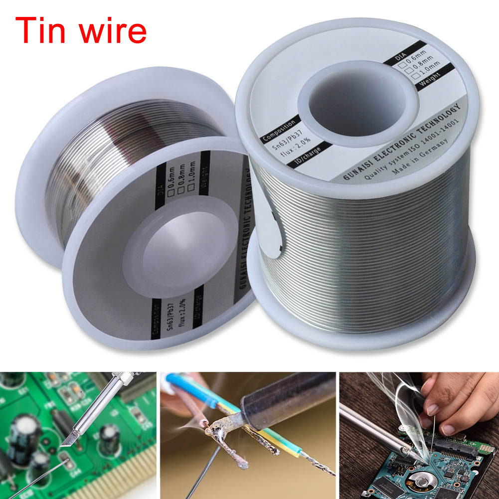 0.6/0.8/1mm  FLUX 2.0% Solder Wire Roll Tin Lead Melt Rosin Core Soldering Durable High Brightness Non-toxic Non-clean-- WWO66