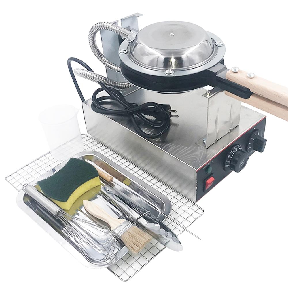 220V 110V electric Chinese Hong Kong egg waffle maker eggettes bubble puff waffle iron machine