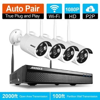 ANNKE Wireless Wifi Surveillance CCTV Camera System 4CH 1080P NVR 4pcs 960P Outdoor IP Camera Waterproof Security Camera System web page