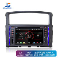 JDASTON Android 9.1 Car DVD Player For Mitsubishi Pajero V97 V93 2006 2011 Multimedia GPS Navigation 2 Din Car Radio IPS Stereo