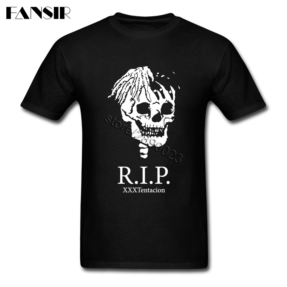 R.I.P. XXXTentacion Camisa New Designing Mens T Shirts Short Sleeve 100% Cotton Crew Nec ...