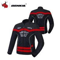 BENKIA Lưới Thoáng Khí Cưỡi Xe Máy Quần Áo Xe Máy Áo Khoác Đua Suit Blouson Moto Người Đàn Ông Xe Máy Quần Áo Màu Xám Màu Xanh Lá Cây