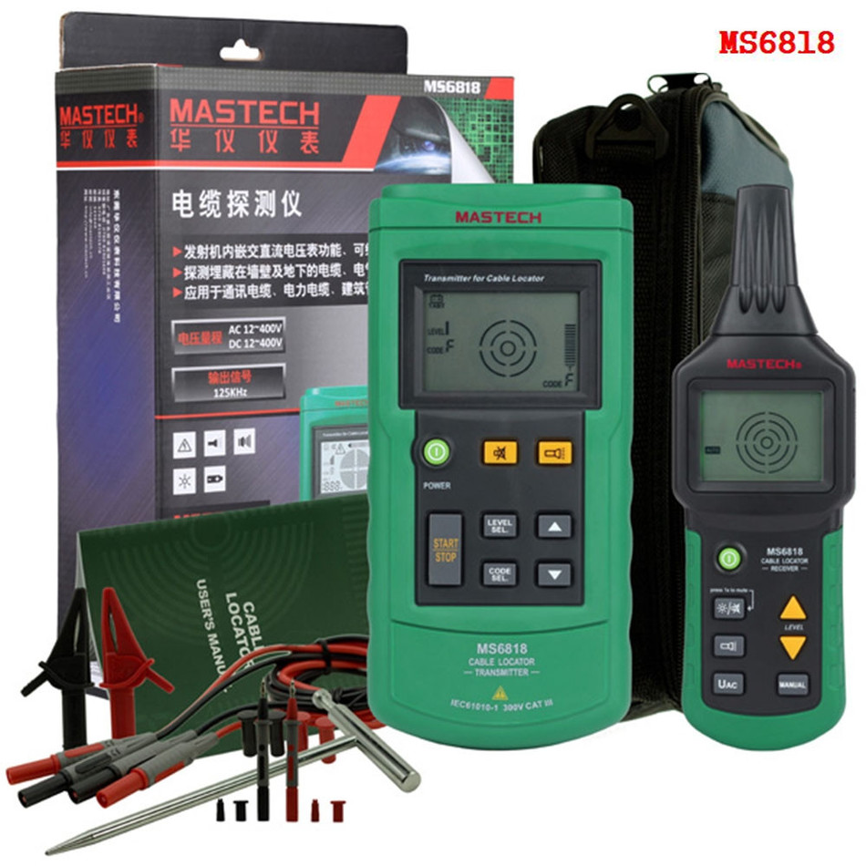 MASTECH MS6818 Advanced Cable Tracker Pipe Locator Detector Network Telephone Cable LAN Ethernet Wire Tester Line Finder