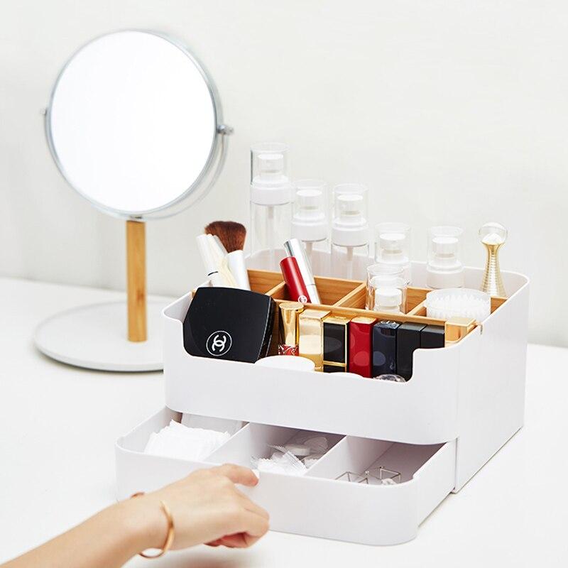 Boîte de rangement de cosmétiques contenant de bureau étui de rouge à lèvres organisateur de bijoux articles divers boîtes de maquillage en plastique Beaty