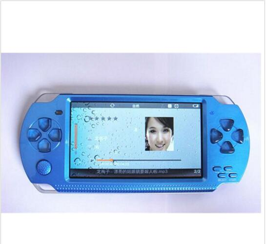 Free Shipping handheld Game Console 4.3 inch screen mp4 player MP5 game player real 8GB support for psp game,camera