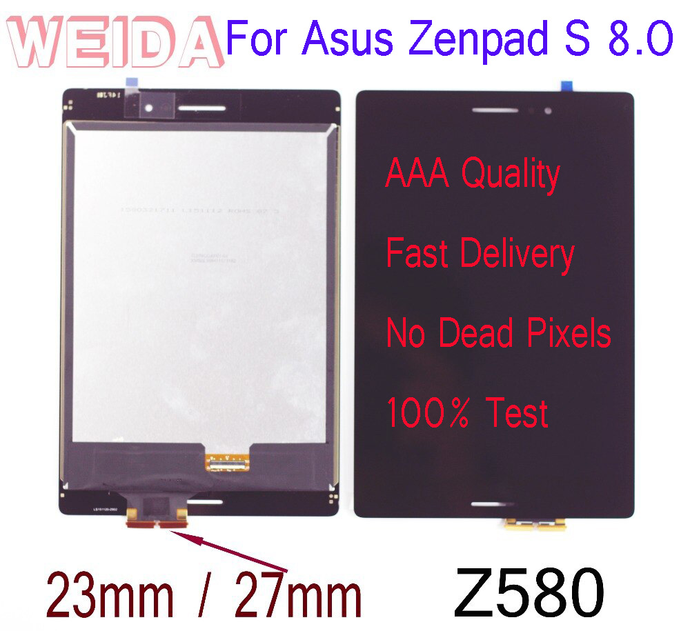 WEIDA LCD Replacment 8 For Asus Zenpad S 8.0 Z580 Z580CA Z580C LCD Display Touch Screen Assembly Z580C 23MM/Z580CA 27MMWEIDA LCD Replacment 8 For Asus Zenpad S 8.0 Z580 Z580CA Z580C LCD Display Touch Screen Assembly Z580C 23MM/Z580CA 27MM