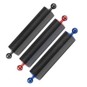 Image 5 - Flotador de fibra de carbono para cámara de buceo brazo acuático de doble bola, bandeja de submarinismo para Cámara de Acción Gopro