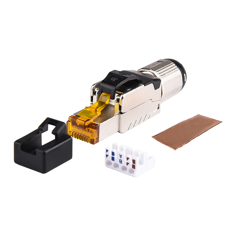 Industrial First Class - RJ45 Shielded Field Plug - Cat.6A STP Field Termination Connector - CAT8 STP Field Termination Plug