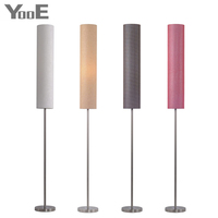 Nordic Floor Lamp E27 lampholde 130 180cm Adjustable Height Stainless Steel and Clothing Material Vertical Indoor Lighting