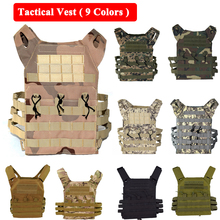 9 Colors Tactical Molle Carrier Vest Hunting Airsoft Outdoor Paintball Sport Body Armor J P C Simple Military