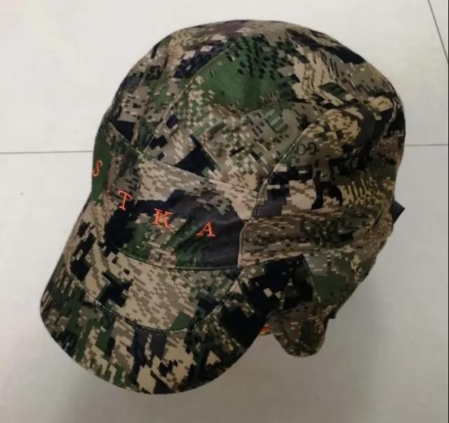 2019 Winter Sitka Hunting Cap Men GTX Hat Camouflage Cap Berber Fleece Lining Windproof Waterproof Cap Outdoor Baseball Cap OSFA