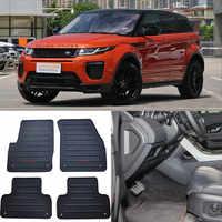 Juego completo de alta calidad para todo el tiempo, alfombrillas de caucho negro resistentes para Land Rover Range Rover Evoque