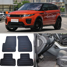 цена на High Quality Full Set All Weather Heavy Duty Black Rubber Floor Mats For Land Rover Range Rover Evoque
