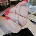 Luxo banhado a ouro praça zircon pingente colar curto mulheres jóias da moda por atacado