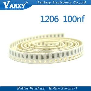 Image 2 - 100pcs 100NF X7R Error 10% 50V 0.1UF 104 1206 smd capacitor