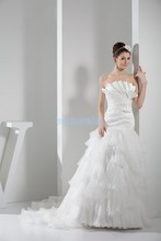 free shipping 2013 mercedes new design scalloped custom size luxury dress bridal gown marry white plus wedding