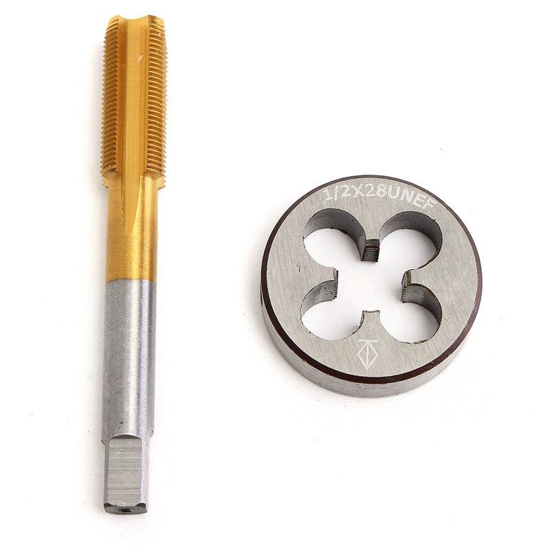 Handwerkzeuge Werkzeuge Das Beste 1/2-28 Titan-beschichteten Rechtsgewinde Tap Und Runde Gewinde Sterben