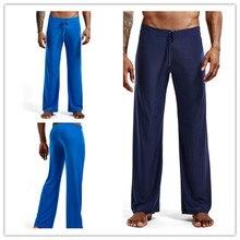 Летние брюки hombre, Мужская одежда, брюки, одежда из шелка, гладкие удобные мужские брюки для бега, йоги, домашние пижамы