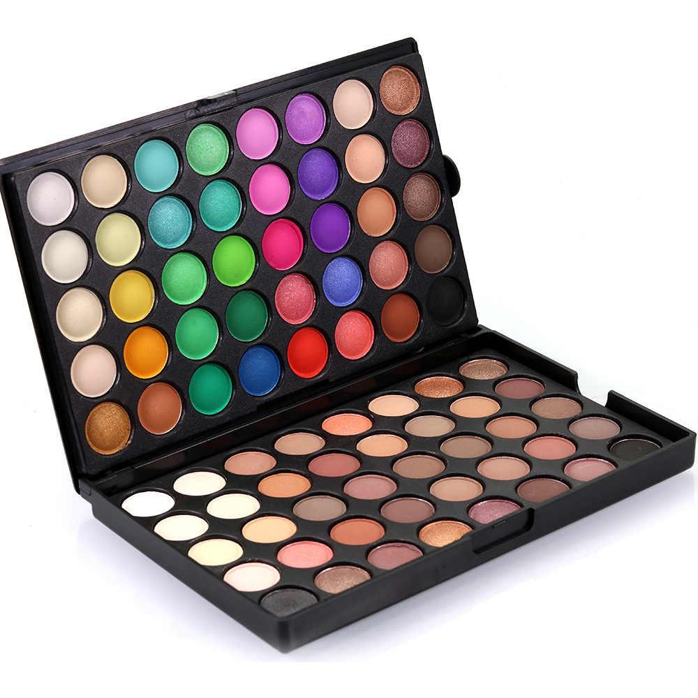 Popfeel Merek Mata Makeup Eye Shadow Palet 80 Warna/Set Wanita Kecantikan Penting Make Up Kosmetik Eyeshadow Kit bayangan