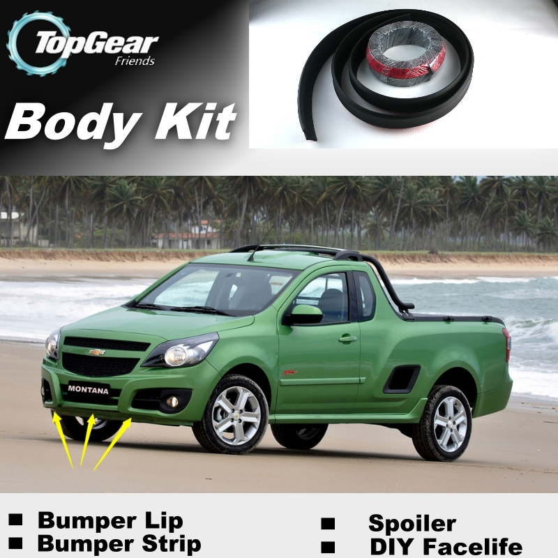 Bumper Lip Lips For Chevrolet Montana / Top Gear Shop Spoiler For Car Tuning / TOPGEAR Recommend Body Kit + Strip