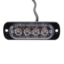 4 мигающий светодиод Предупреждение светильник Strobe решетка огни мигающий светильник бар для грузовиков автомобильный проблесковый маячок желтого цвета синий и красный цвета движения светильник