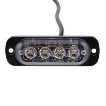 4 мигающий светодиод Предупреждение светильник strobe решетка