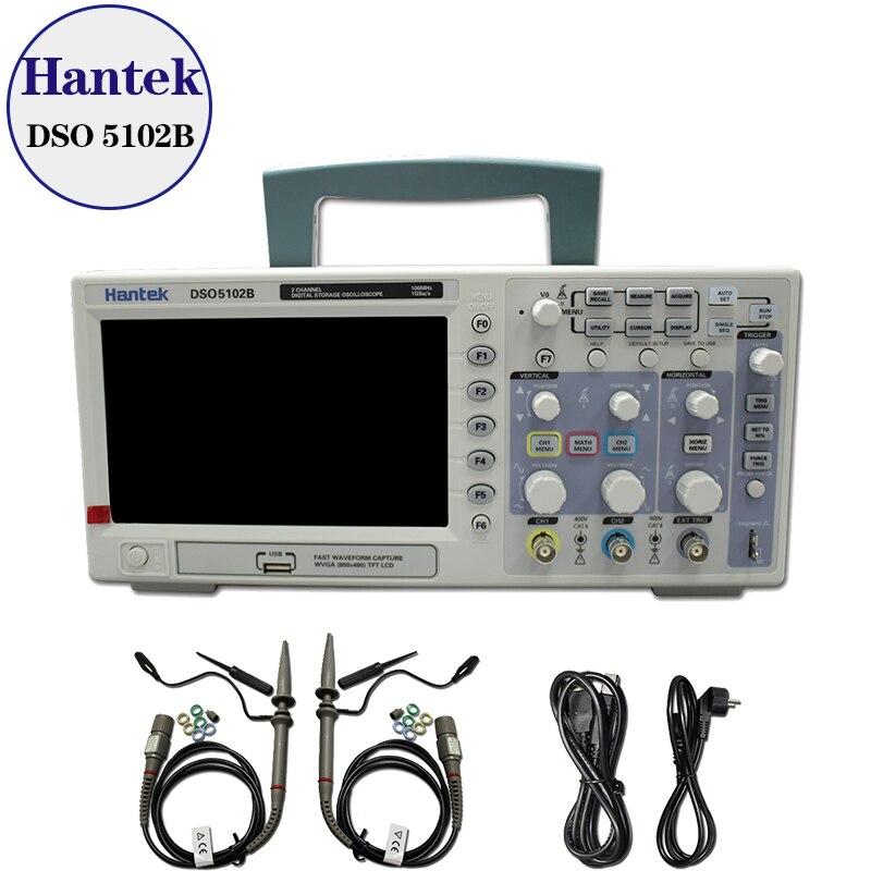 Hantek DSO5102B Digital storage oscilloscope 100MHz 1GSa s better than ADS1102CAL