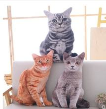 Бесплатная доставка 50 см имитация плюшевой кошки мягкая набивная