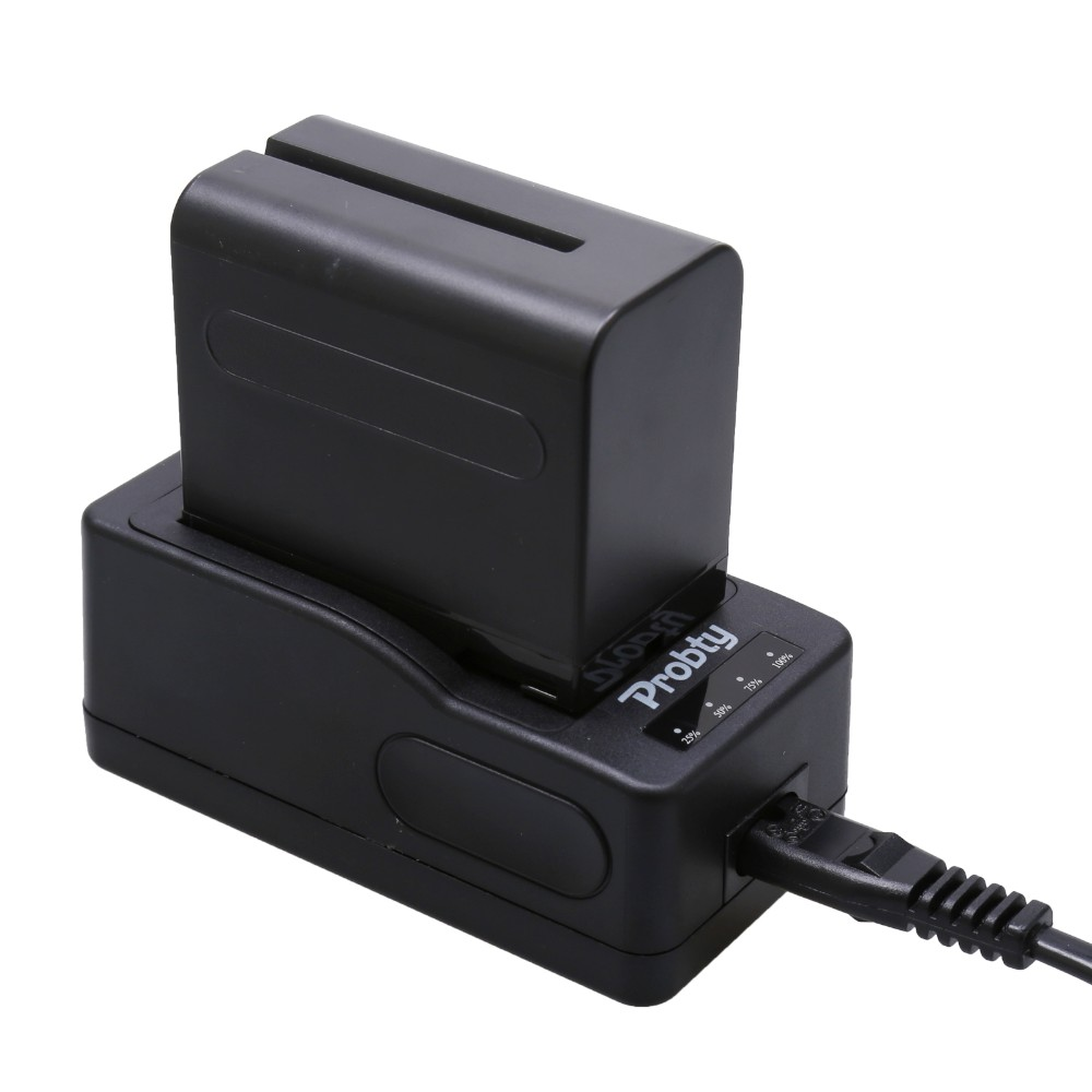 NP-F960 Digital Battery + NP-F970 Quick Rapid Charger for <font><b>Sony</b></font> DCR-<font><b>VX2100</b></font> FDR-AX1 FDR-AX1E NP F970 NP F960 NP-F950 NP-F930 image