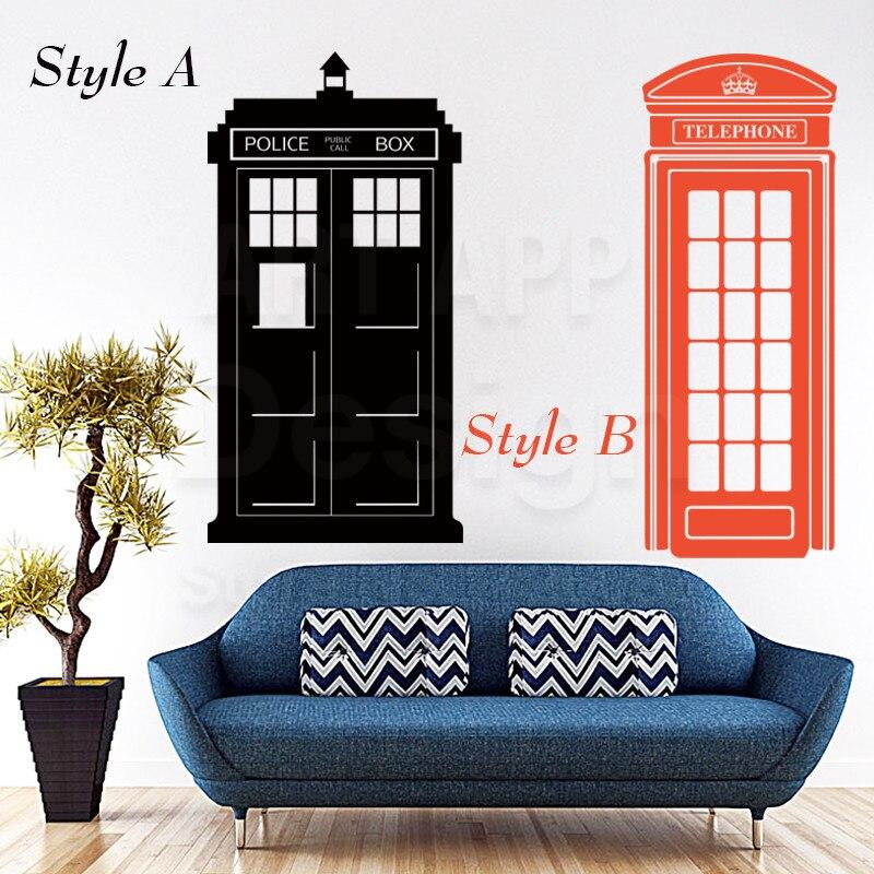 Art new design home decor vinyl police box wall sticker ...