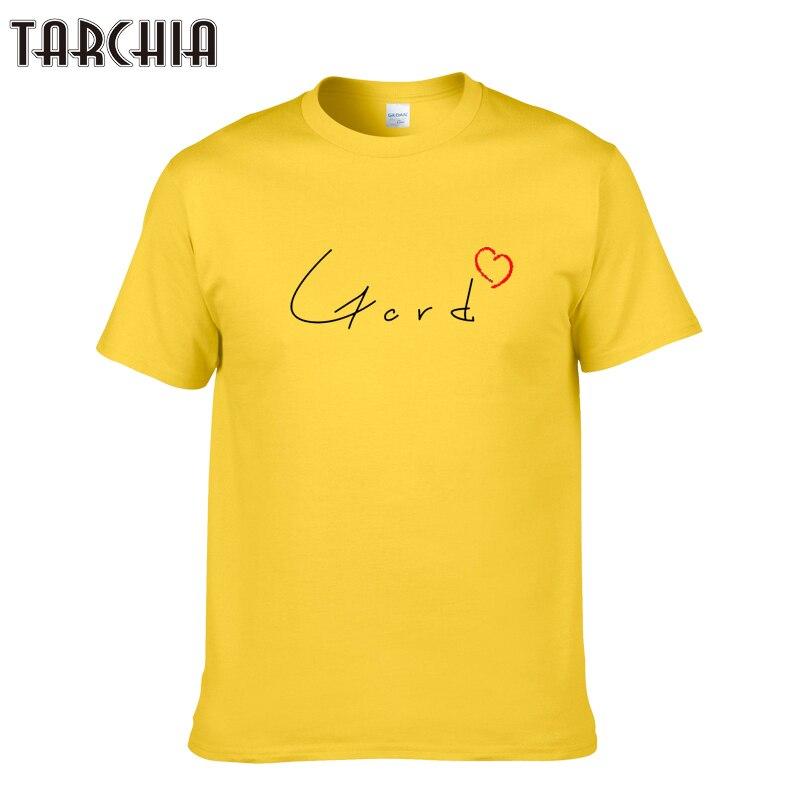 TARCHIA 2018 fashion cotton tops tees downie tribute gord love men short sleeve boy casual homme tshirt t plus free shipping New