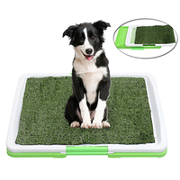 3 Tire Indoor Puppy Dog Pet Grass Toilet Tray Dog Training Potty Pee Pad Mat Seat Tray Fake Grass Toilet With Tray 47x34x6cm