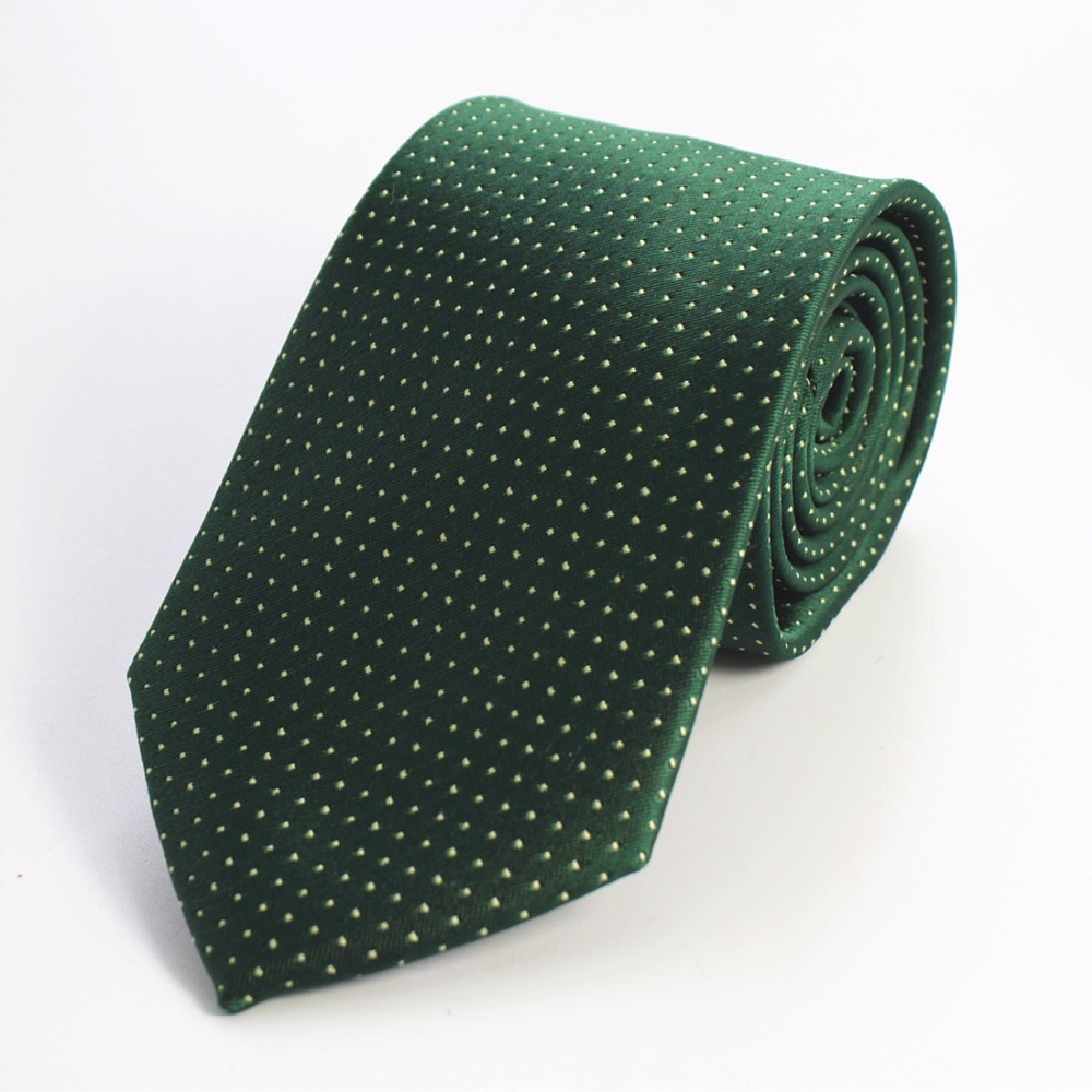 GUSLESON 8cm Ties 17 New Brand Man Fashion Dot Striped Neckties Hombre Gravata Tie Classic Business Casual Green Tie For Men 8