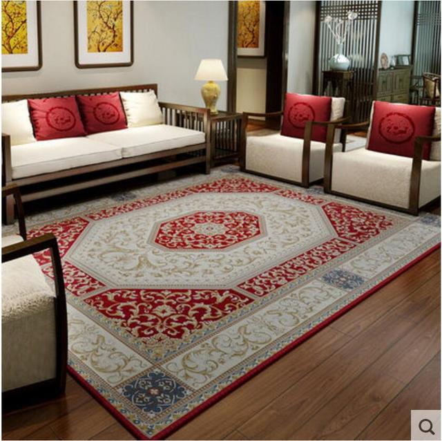 Fashion 140X200CM Vintage Carpets European Coffee Table Rugs And ...