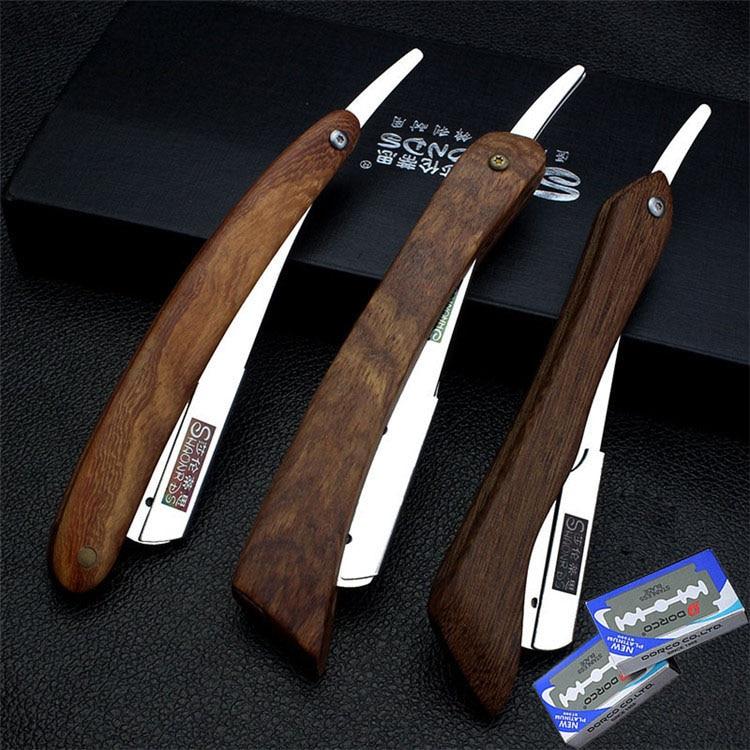 Socle pour rasoir manche en bois support de lame outils manuel socle pour rasoir poils du visage sourcils barbe outils traditionnels