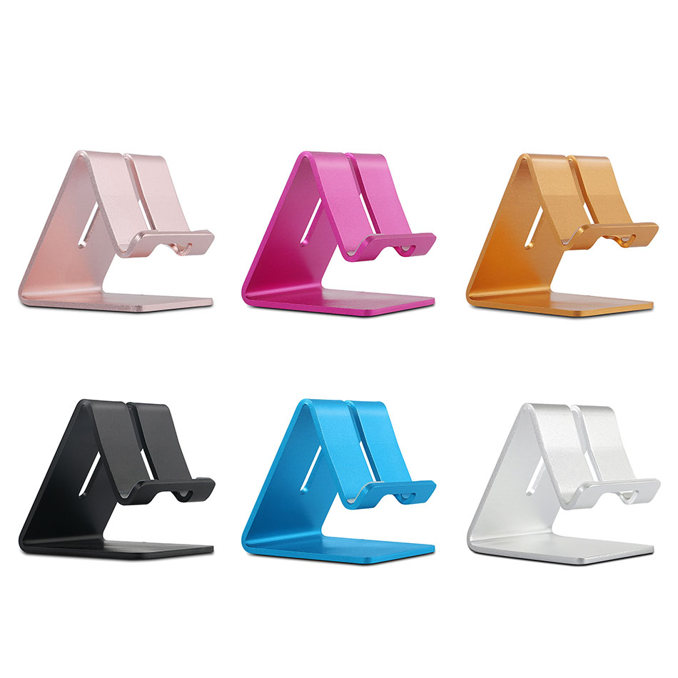 Holder Stand For Iphone 8 7 7plus 6s 6 5s 5 Cellphone For Kindle Ebook Aluminum Metal Mobile Phone Tablet Desk 1pc Low Price Mobile Phone Accessories