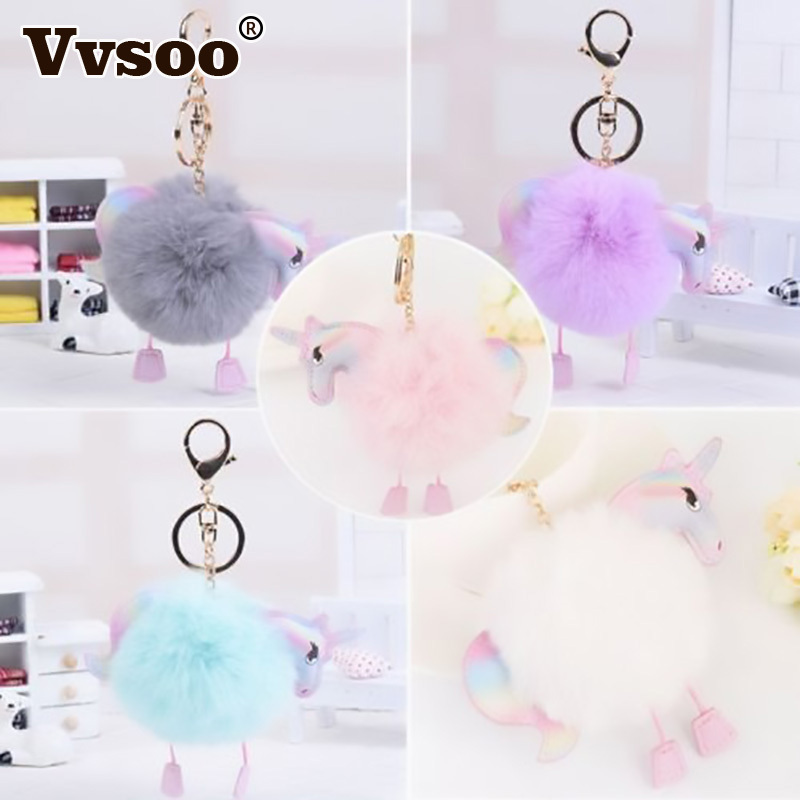 Vvsoo Exquisite Unicorn Plush Christams Party Decoration Furry Ball Ornaments for DIY Home Bar Outdoor Party Supplies ...