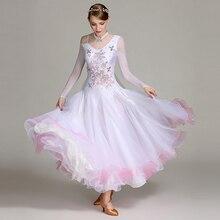 Современный танец платье шоу платье Полное платье бальное платье DQL103