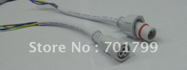 10pcs/lot3 Core White Waterproof pigtail,20cm long each;male and female;male connector's diameter:13.5mm