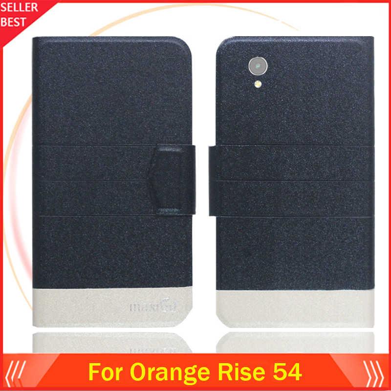 5 ألوان حار!! البرتقال الارتفاع 54 حالة تخصيص رقيقة جدا جلدية الحصري الهاتف غطاء فوليو كتاب بطاقة فتحات شحن مجاني