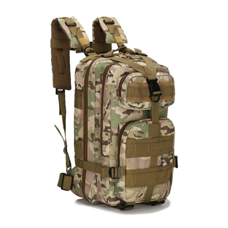 Army Military Tactical Camuflaje 30L Bolsa multicapa Mochila Bolsas de Deporte A