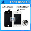 AAA No Dead Pixel For IPhone 4S LCD Touch Screen Digitizer LCD Assembly Replacement Tools Tempered Glass Black  white DHL